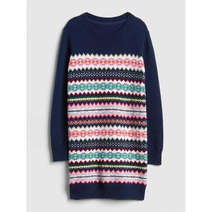 GAP KIDS Fair Isle Multi Stripe Wool Sweater Dress